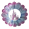 Disney EyCatcher Spinner - Castle Silhouette  - 4''  - Purples and Blues