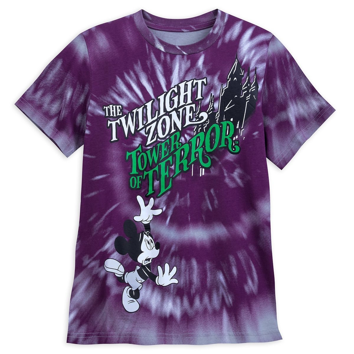 Disney Child Shirt - Tower of Terror Mickey Mouse Tie-Dye
