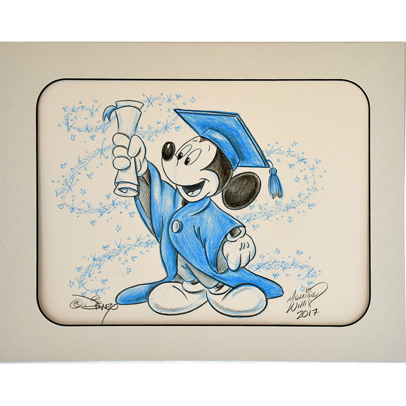 Disney Artist Sketch Mickey Mouse Graduation Blue