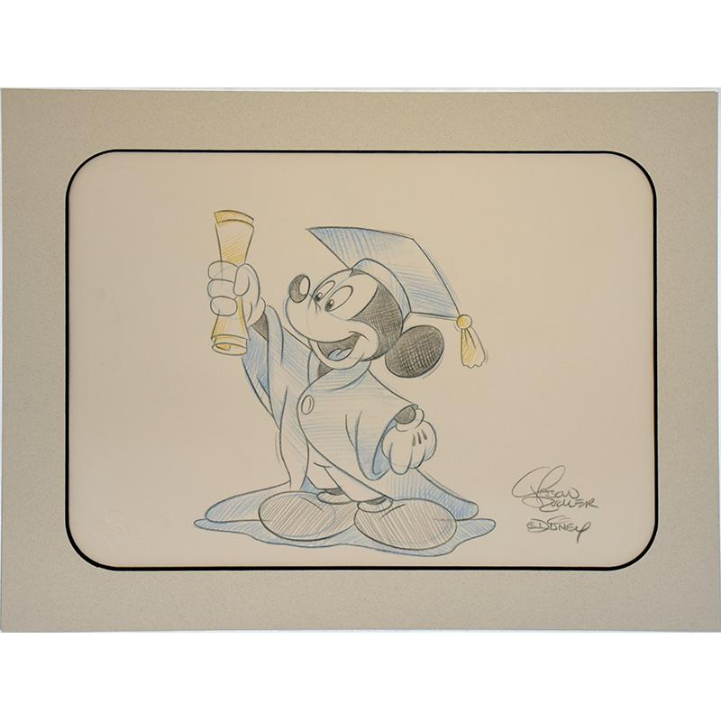 Disney Artist Sketch Mickey Mouse Graduation Blue