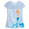 Disney Women's Shirt - Cinderella Fashion Top with Lace