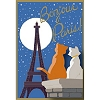 Disney Soda Fountain Pin - Paris Postcard - Aristocats