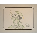 Disney Artist Sketch - Mickey Mouse - Graduation - Green