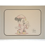 Disney Artist Sketch - Minnie Mouse - Graduation - Red