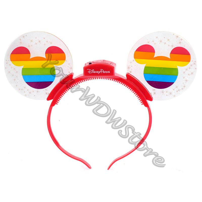 Disney Light Up Ears Headband Rainbow Mickey Mouse Pride