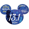 Disney Car Magnet - runDisney Princess Half Marathon Weekend 2018 13.1