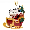 Disney Figurine Ornament - Good Tidings Mickey and Minnie Sled