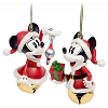 Disney Jingle Bell Ornament Set - Santa Mickey and Minnie Mouse