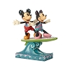 Disney Traditions by Jim Shore - Minnie and Mickey Surfboard