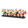 Disney Britto Figurine - Seven Dwarfs on a Log