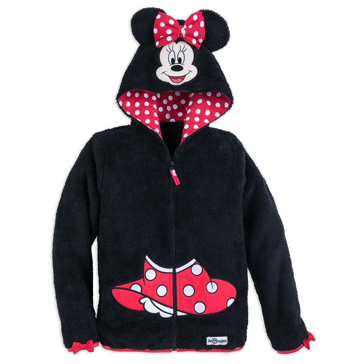 1c45253888cb Disney Girl s Hoodie - Minnie Mouse Hooded Fleece Jacket for Girls
