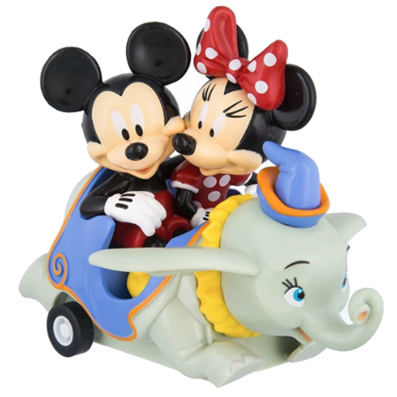 Disney Toy Car - Mickey and Minnie Dumbo Pullback Vehicle