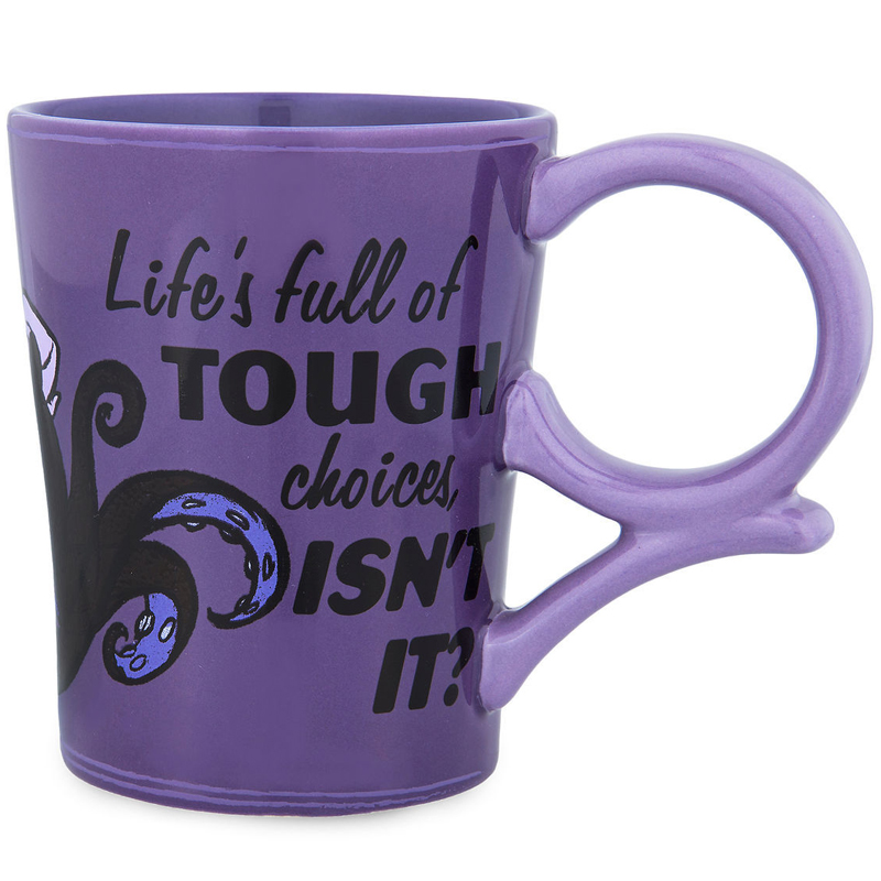 Disney Coffee Cup - Ursula - Life's full of TOUGH choices ISN'T IT