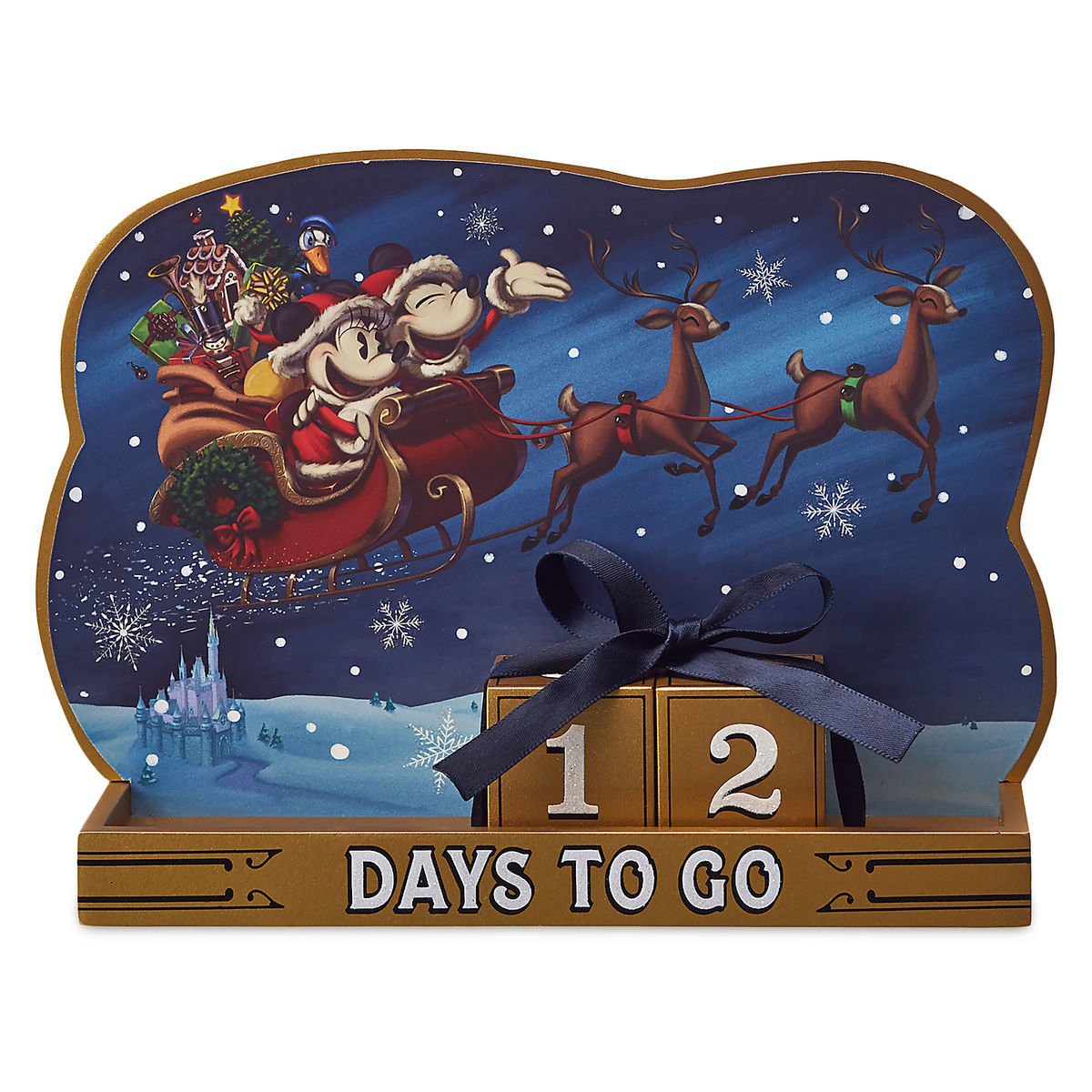 Disney Countdown Calendar - Santa Mickey and Minnie Mouse Holiday