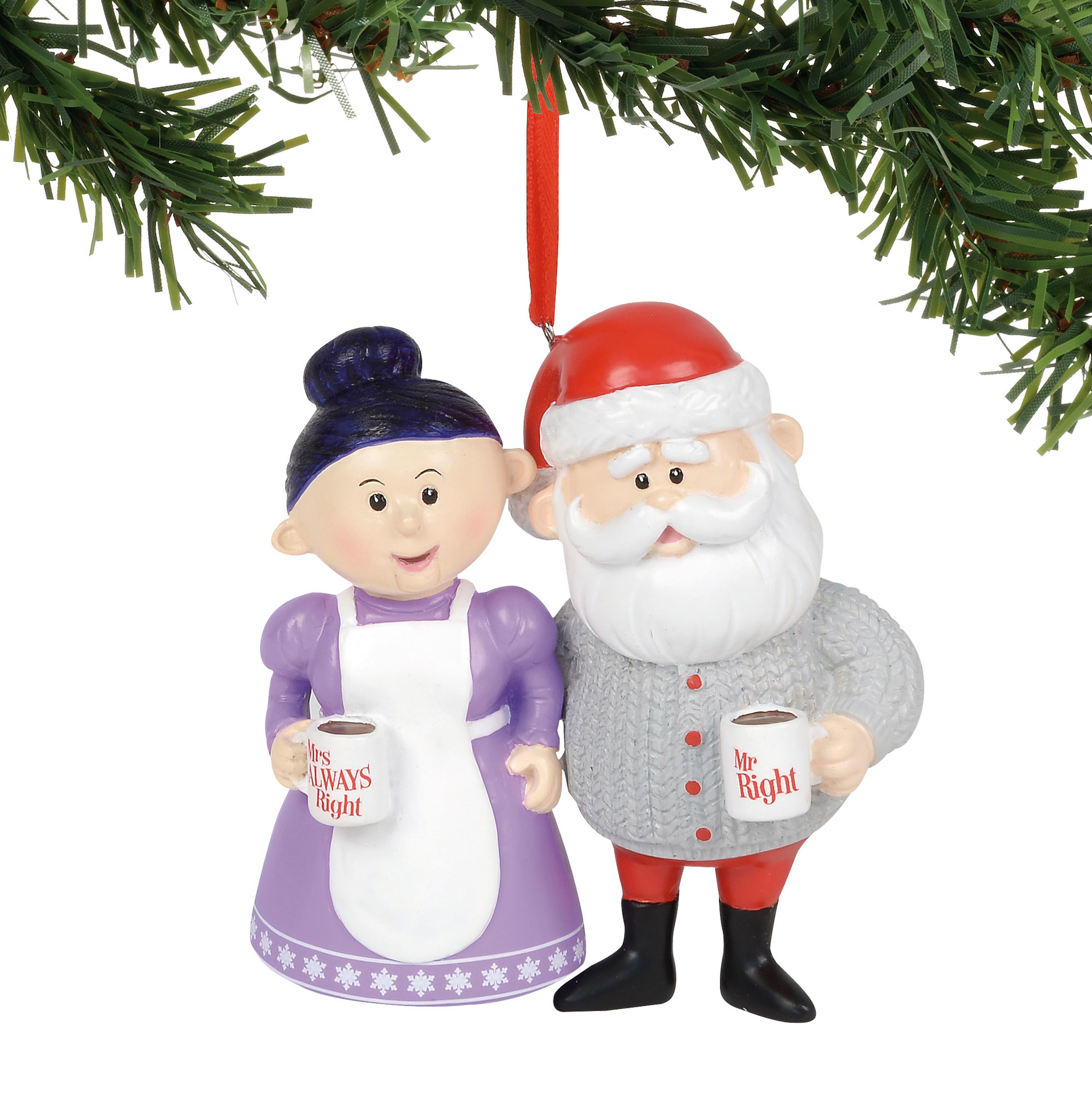 Department 56 Ornament - Rudolph - Mr. Right & Mrs. Always Right