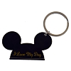 Disney Keychain Ring - Mickey Ears - I Love My Dog