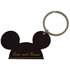 Disney Keychain Ring - Mickey Ears - Love and Kisses