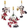Disney Holiday Ornament Set - Santa Mickey and Minnie Mouse Ornaments
