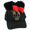 Disney Youth Baseball Cap - Minnie Mouse Bow - Black