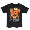 Disney Adult Shirt - Halloween 2018 Mickey Pumpkin Tee - Black