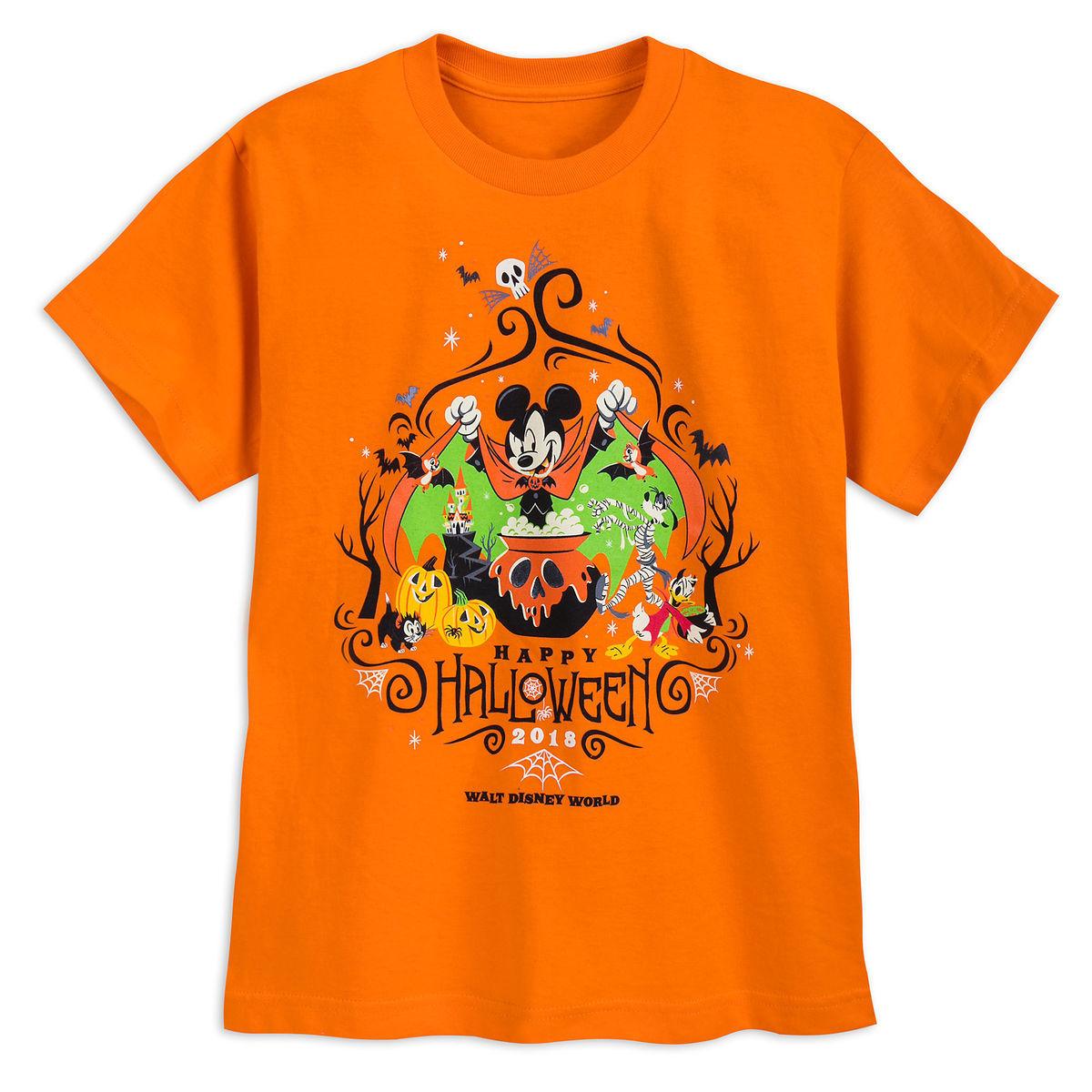 Disney Halloween Shirts 2019.Disney Child Shirt Halloween 2018 Mickey Friends Orange