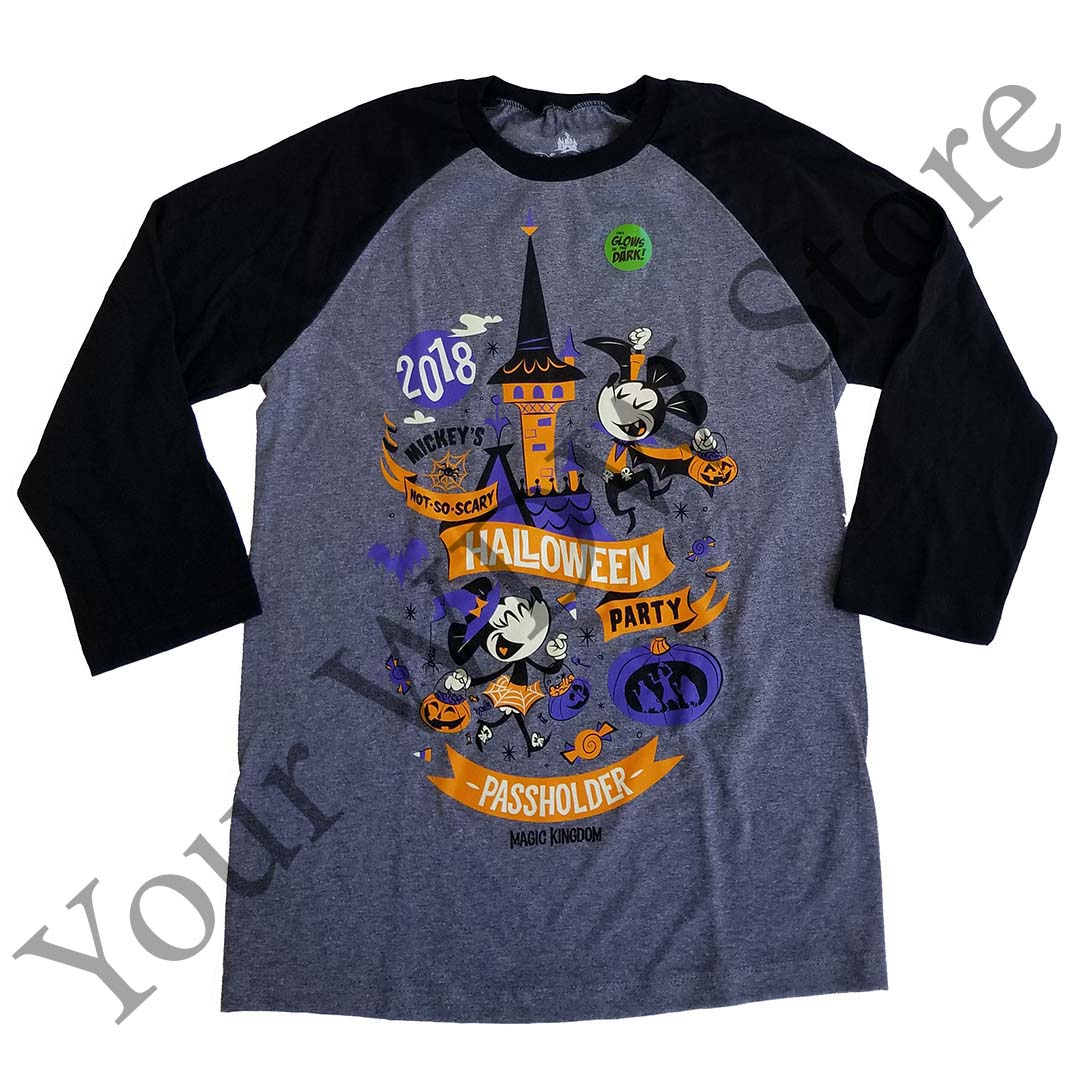 Disney Adult Shirt - Mickey's Not So Scary Halloween Passholder 2018