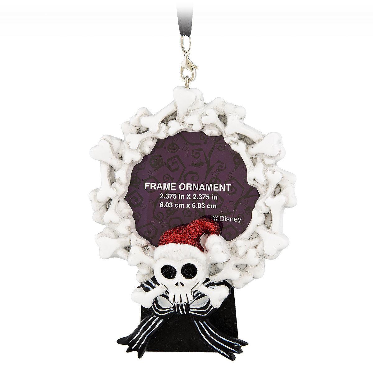 Disney Frame Ornament Jack Skellington Bone Wreath