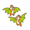 Disney Halloween Pin - Chip and Dale as Bats