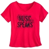 Disney Women's Shirt - Rock 'n Roller Coaster - Music Speaks