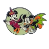 Disney Halloween Pin - Mickey & Minnie Riding a Broom Pin