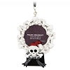 Disney Frame Ornament - Jack Skellington - Bone Wreath