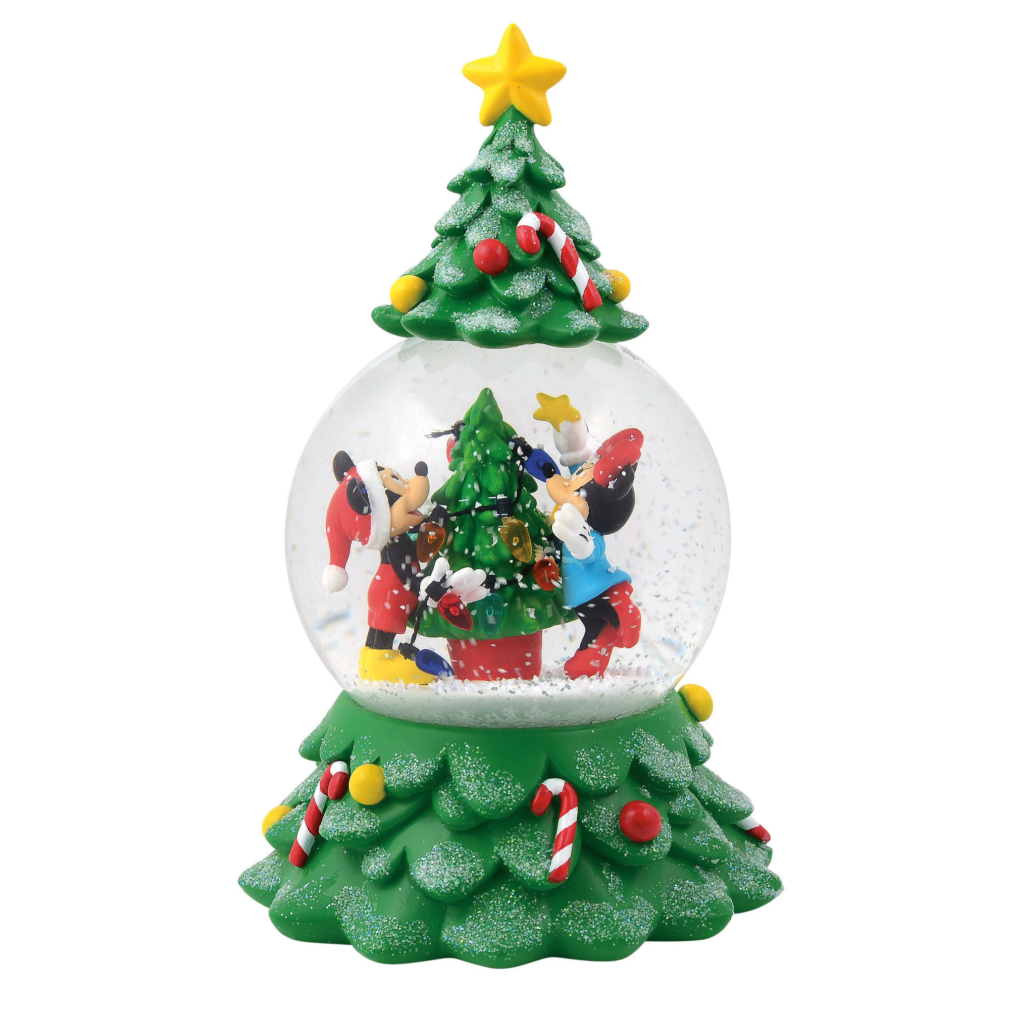 Mickey and Minnie Tree Snowglobe