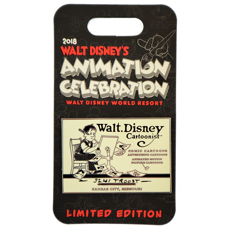 Disney Animation Celebration Pin Welcome Pin Walt S Business Card