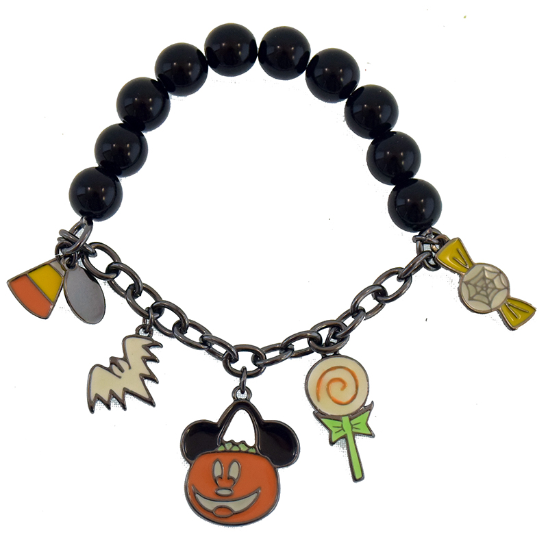 Disney Charm Bracelet - Halloween Mickey Mouse Icons