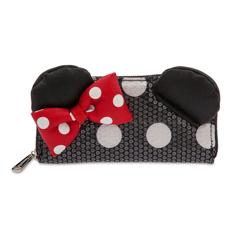 DISNEY PIN MINNIE MOUSE ICONS SPARKLY RED BOW WITH WHITE POLKA DOTS FROM 4 SET