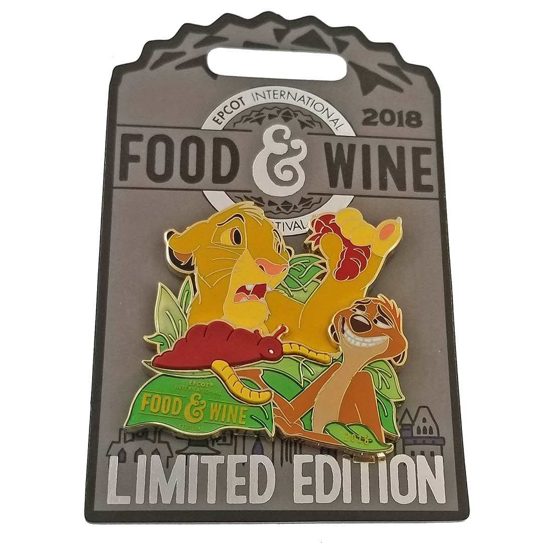 Disney Food and Wine Festival Pin - 2018 Simba and Timon