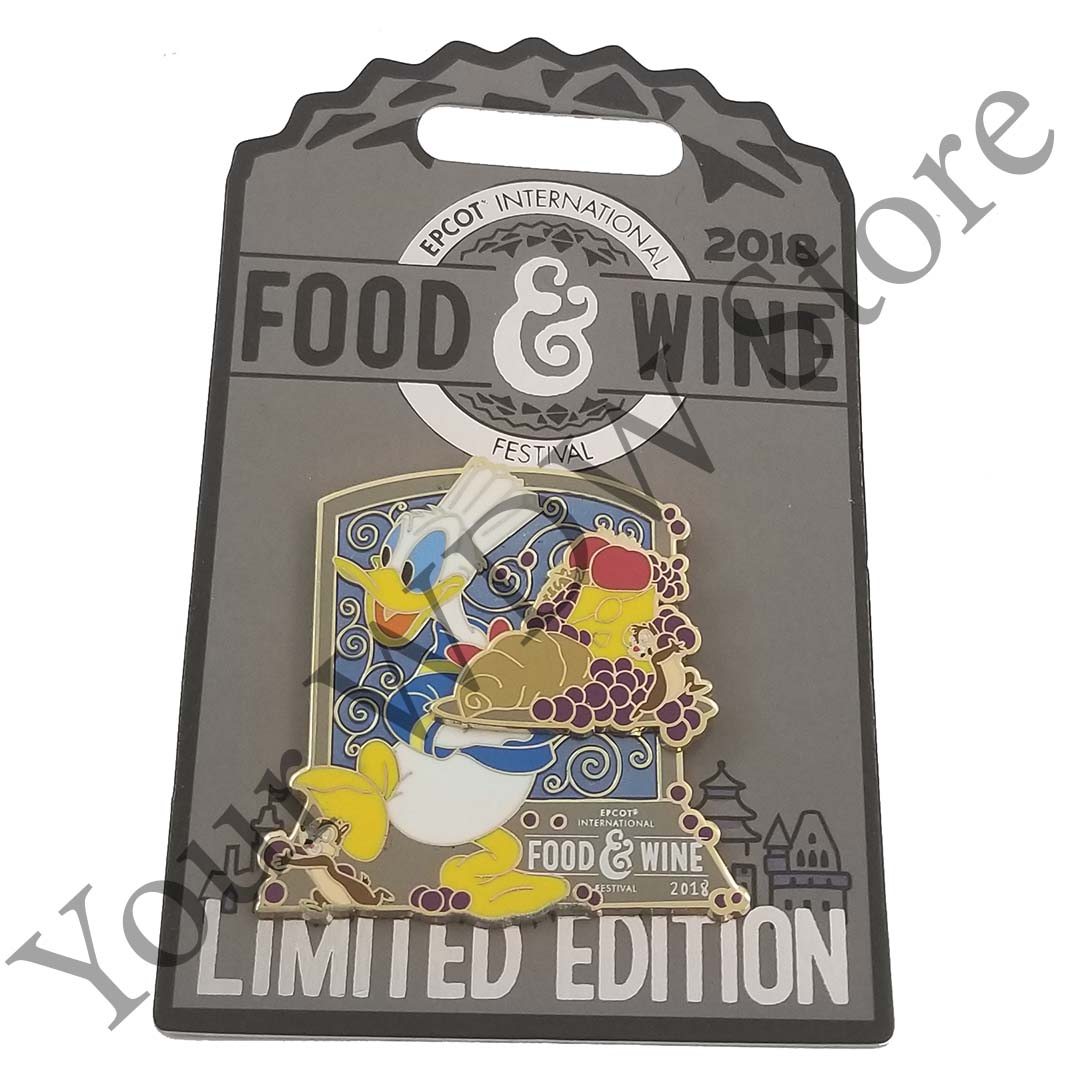 Disney Food and Wine Festival Pin - 2018 Donald and Chip 'n Dale