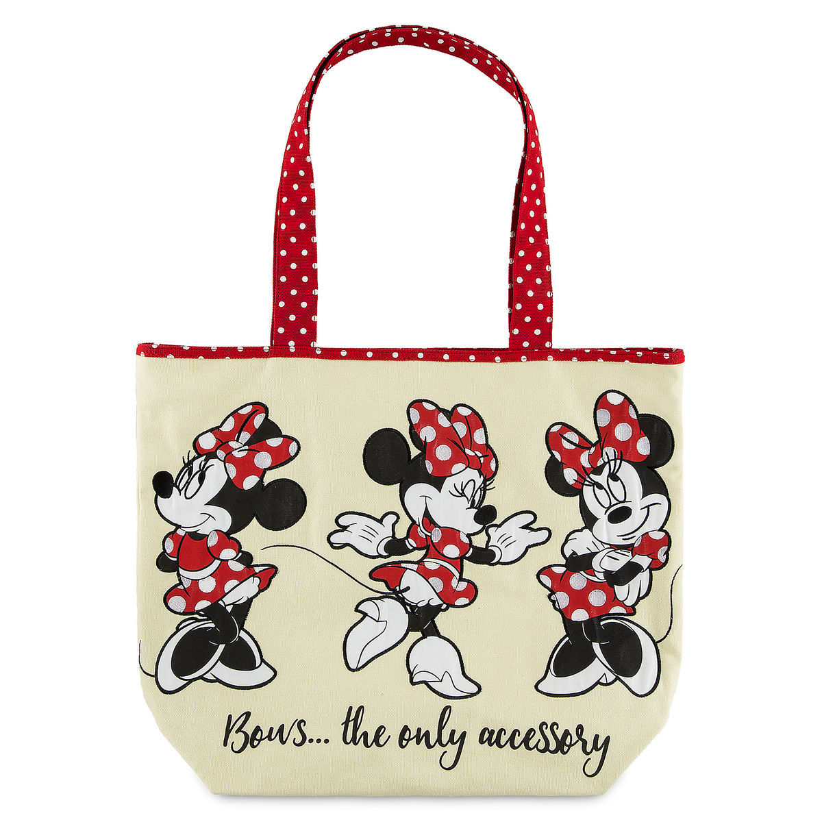 Disney Tote Bag - Minnie Mouse Canvas Tote - Bows the Only Accessory