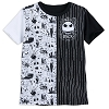 Disney Child Shirt - Jack Skellington Black and White 1/2 & 1/2