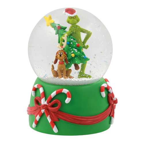 Department 56 Grinch Stealing Tree Musical Globe