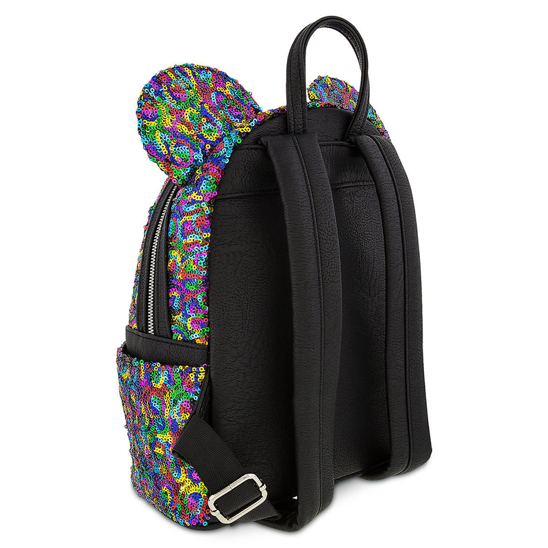 3cf348dcdc0 Disney Mini Backpack - Rainbow Mickey Sequin by Loungefly