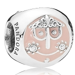Disney PANDORA Charm - ''it's a small world'' Charm - 3 sided
