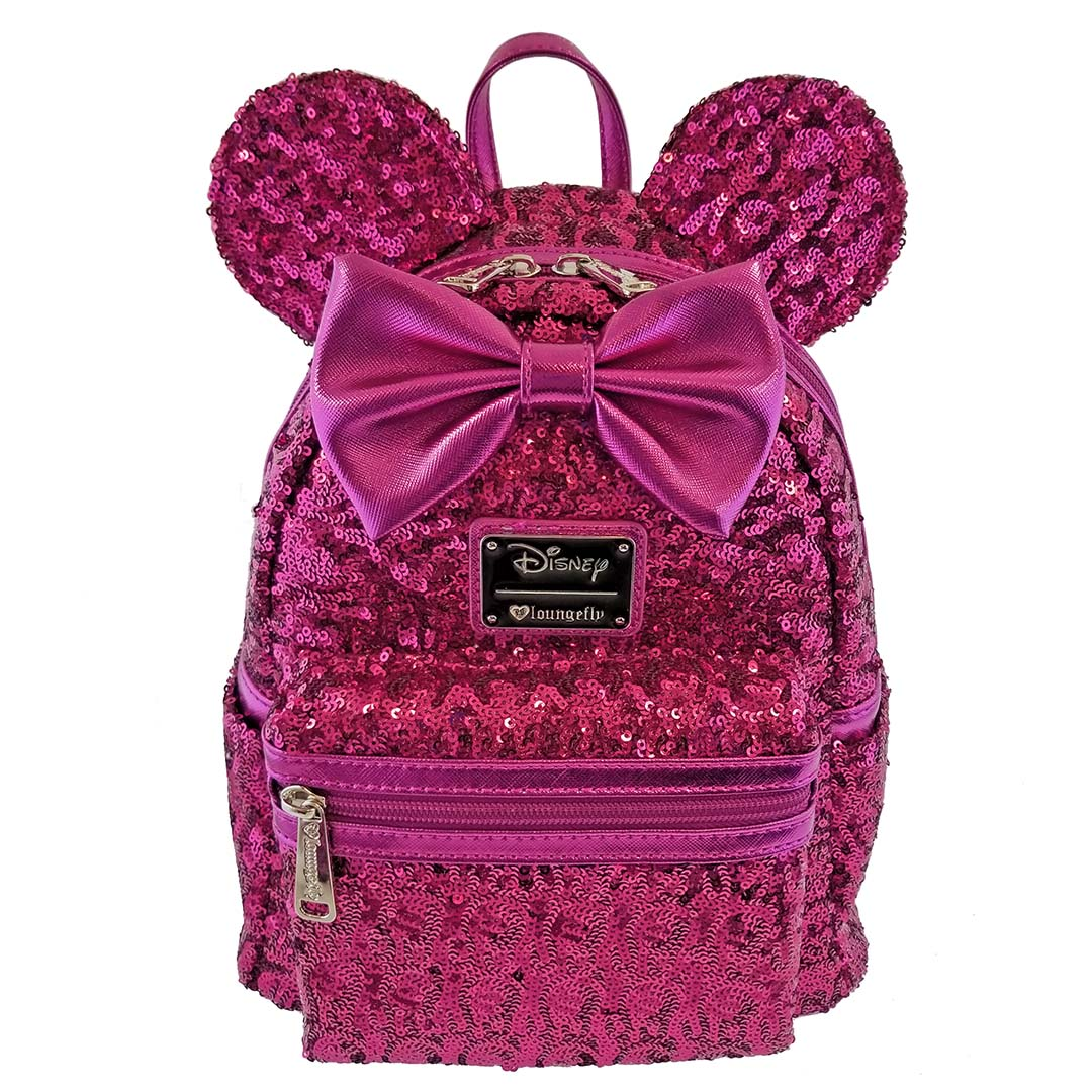 Brand New Disney X Loungefly Minnie Mouse Sequined Ears Mini Backpack Sequin