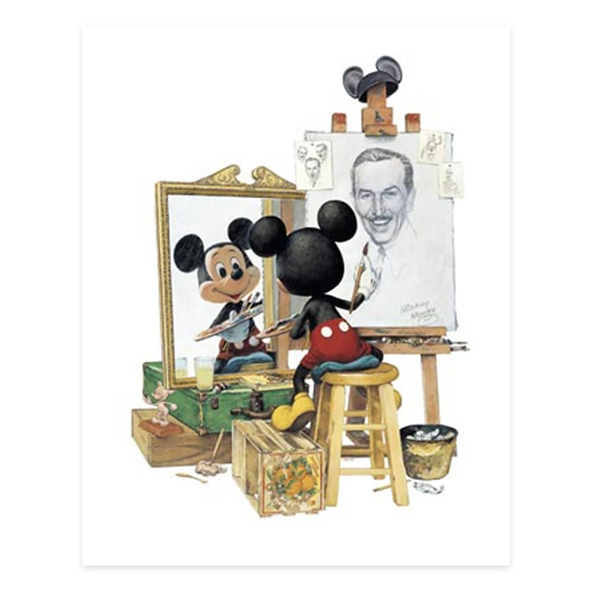 Disney Giclee Canvas - Charles Boyer - Triple Self Portrait