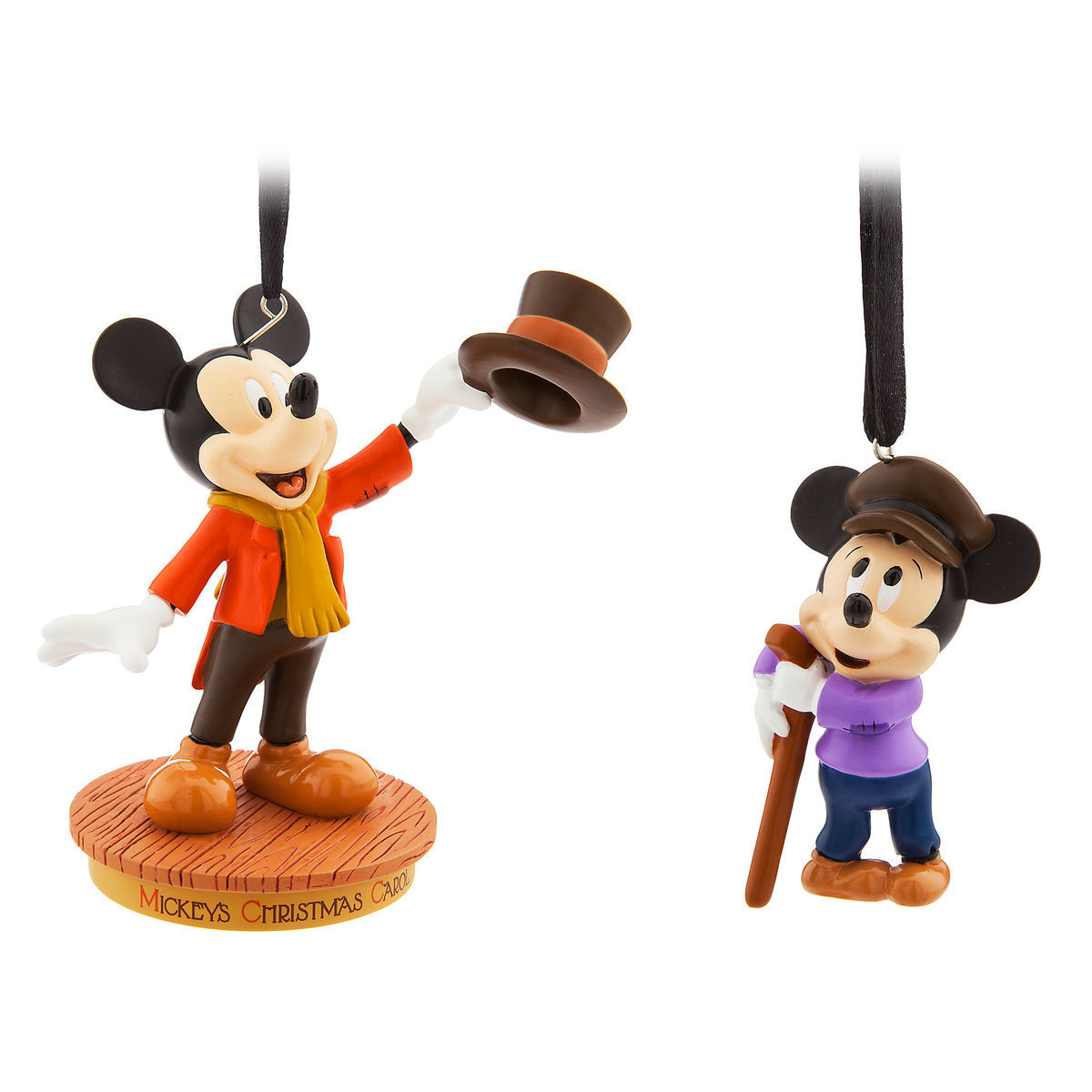 Disney Christmas Carol.Disney Ornament Set Mickey Mouse Memories Mickey S Christmas Carol
