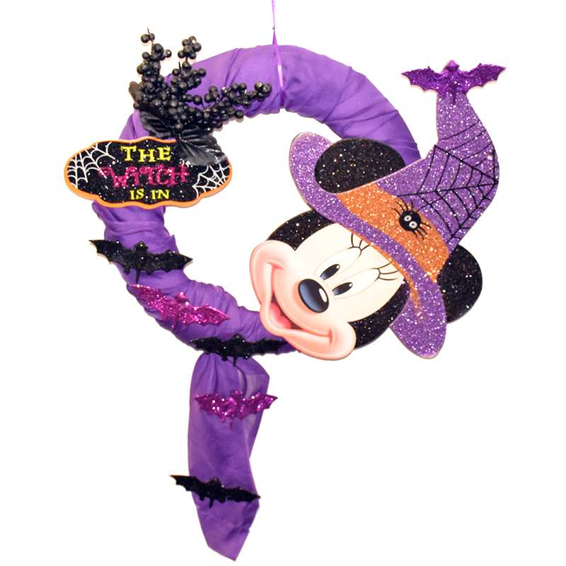 Disney Holiday Wreath - Minnie Mouse Witch - Witch Is In