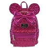 Disney Loungefly Backpack Bag - Minnie Mouse Magenta Sequin