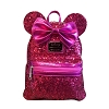 Disney Backpack by Loungefly - Minnie Mouse Hot Pink Sequin