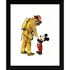 Disney Framed Giclee Print - Charles Boyer - Mickey and the Fireman