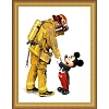 Disney Framed Giclee Canvas - Charles Boyer - Mickey and the Fireman
